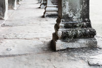 old columns in Angkor Wat