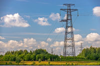 Power lines, towers and pylons