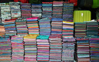 Khmer cloths for sale at a market