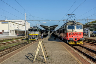 Slowakisch-Tschechisches Zugtreffen in Banska-Bystrica