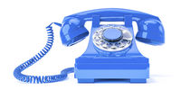old blue phone