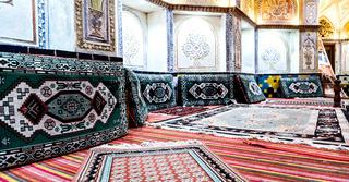 in iran   hammam carpet