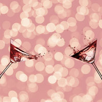 Two glasses with cocktail