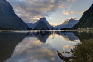 New Zealand Milford Sound Evening