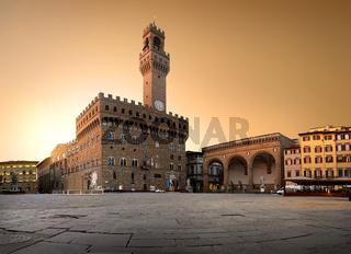 Belltower on piazza