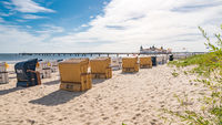Ostsee Strand mit Strandkörben