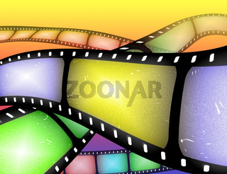 filmstrip abstract
