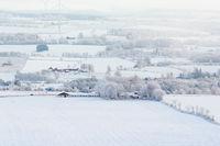Country winter landscape in Sweden