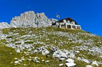 Carschinahütte am Südfuss der Sulzfluh im Rätikon