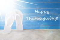 Sunny Summer Background, Text Happy Thanksgiving