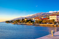 Starigrad Paklenica waterfront at sundown panoramic view