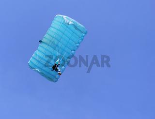 Blue parachute