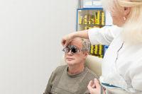 Man in an optometric clinic