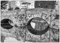 Römische Brücke von Caldas de Reis, Galizien, Spanien