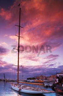 Moored Sailing boat