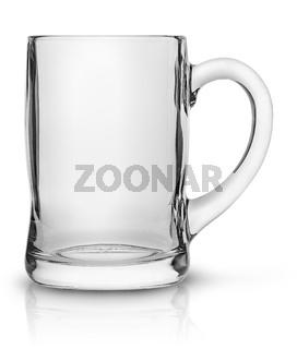 Glass mug for beer