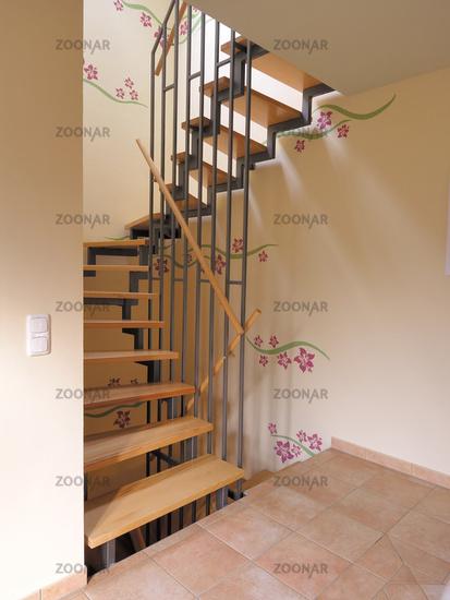 Treppenhausbeleuchtung moderne treppenhausbeleuchtung  Foto Interior, Treppenhaus modern, Wandtattoos Bild #658342