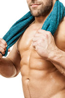 bodybuilding man towel