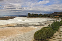 Limestone Terraces  At Pamukkale Turkey