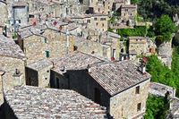 City of Sorano in the province of Grosseto in Tuscany