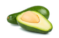 Green ripe avocado