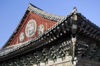 Dach eines Tempels,Südkorea