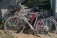 Fahrräder diebstahlsicher - Nahaufnahme