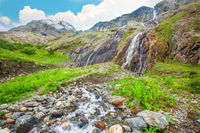 beautiful cascade waterfall