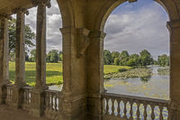 View From The Palladian Bridge Stowe Gardens Buckingham UK