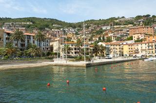 Bucht von Santo Stéfano, Maremma, Toskana, Italien