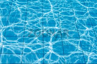 Sun splash in pool