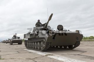 Bulgarian army battle tanks