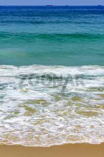 Green ocean waters