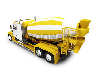 isolated concrete mixer with clipping path