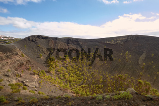 Crater of Volcano San Antonio in Las Palmas at Canary Islands