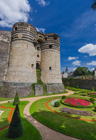 Angers castle in the Loire Valley - France