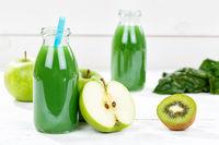 Grüner Smoothie Saft Apfel grün Kiwi Spinat Fruchtsaft Frucht Früchte