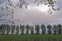 Regenbogen nach einem Unwetter