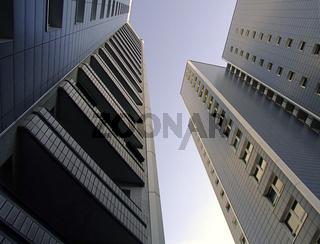 zwei Hochhäuser