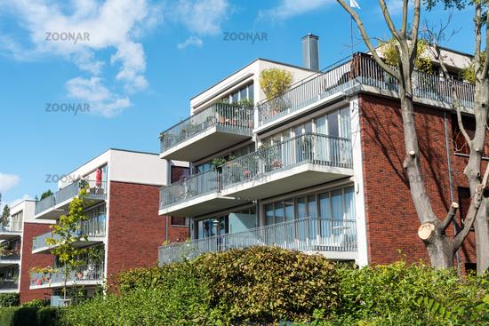 Schon Moderne Wohnhäuser In Einem Neuen Wohngebiet