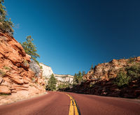Empty scenic highway in Utah