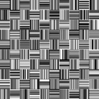 Seamless Black and White Straight Vertical and Horizontal Variable Width Stripes