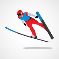 Jumping skier sport