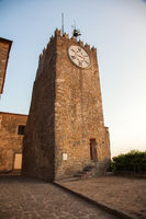 Tower in sunset time, Montecatini Alto,Tuscany,Italy