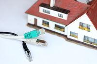 Hausanschluss mit Kabelsymbol