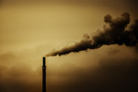 an industrial air pollution smoke chimney