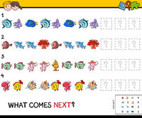 complete the pattern with sea life animals game
