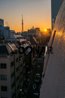 Tokyo Skytree sunrise Ueno