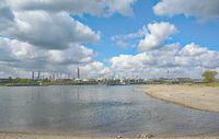Industrieanlage am Rhein bei Dormagen,NRW,Deutschland