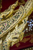 Drachen-Ornament am Thai-Sala im Kurpark von Bad Homburg vor der Höhe, Deutschland